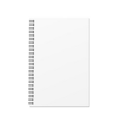 Blank hard cover book template vector