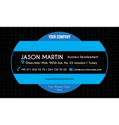 Blue creative business card vector image