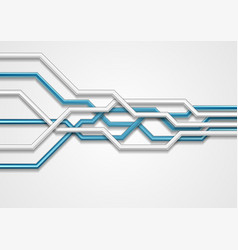 blue grey abstract hi-tech background vector image