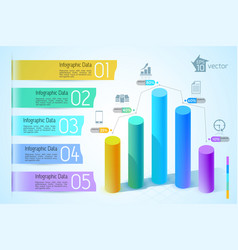 Business chart and graph infographics vector