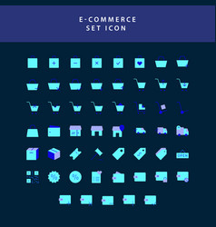 business e-commerce shopping and finance flat vector image