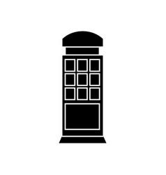 call box black icon concept call box sig vector image