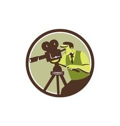 Cameraman Director Vintage Camera Retro vector image