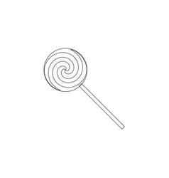 candy lollipop flat icon vector image