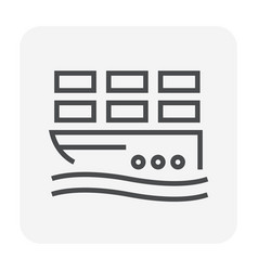 cargo shipping icon vector image