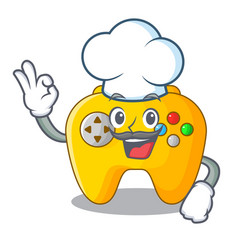 chef video game controller shaped on charcter vector image