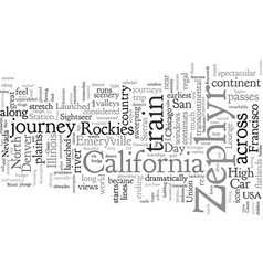 Classic american train journeys the california vector