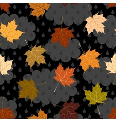 Cloudy autumn pattern vector