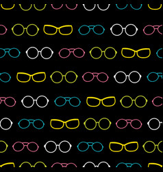 colorful on black glasses accessories vector image