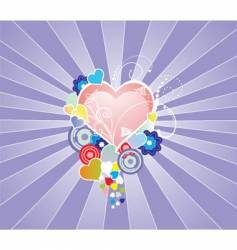 colour hearts graphic vector image
