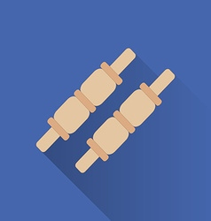 Cricket game flat icon vector