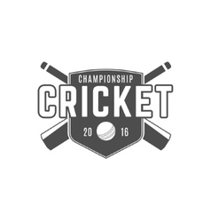 Cricket team emblem and design elements vector image