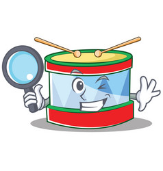 detective toy drum character cartoon vector image
