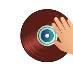 disk vinyl retro music vector image