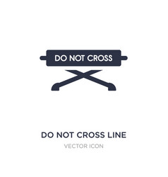do not cross line icon on white background simple vector image