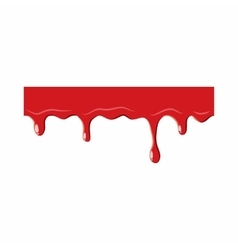 Dripping down blood icon vector image