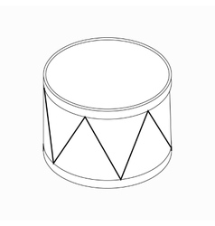 Drum icon isometric 3d style vector