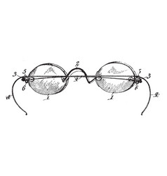 Early design spectacles vintage vector