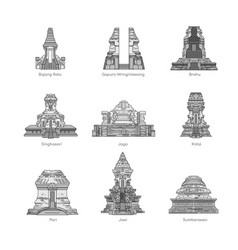 East java temple pack vector