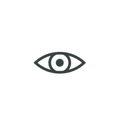 Eye icon simple vector