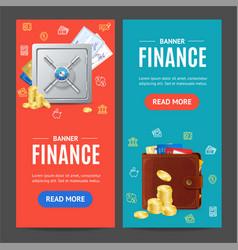 Finance banner vecrtical set vector