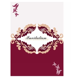 Floral ornament Invitation card vector image