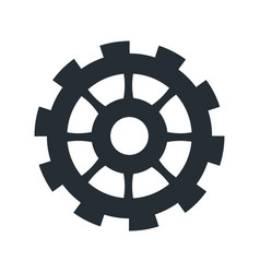 Gear work business cooperation icon vector