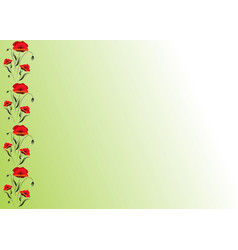 greeting card poppies flowers can be used as vector image