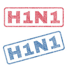 H1n1 textile stamps vector