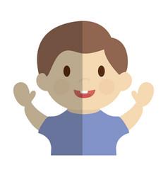 happy boy icon vector image