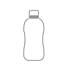 icon of water bottle vector image
