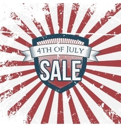 Independence Day 4th of July Sale Holiday Shield vector image