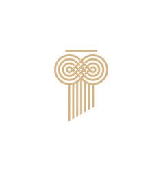 Infinity law pillar logo icon vector