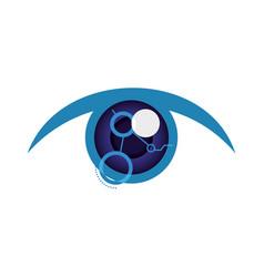 Isolated cyber eye vector