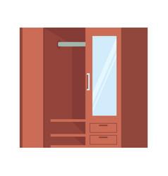Isometric closet icon on white background vector