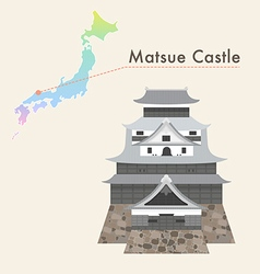 japan castle matsue vector image