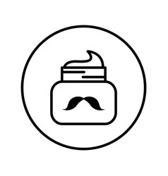 jar with caring for mustaches vector image