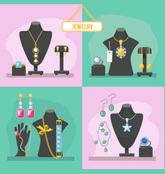 jewelry shop beauty items for woman expensive vector image