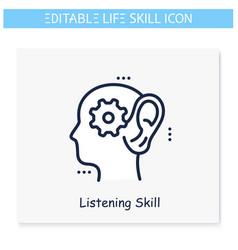 Listening skills editable vector