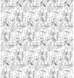 Luggage things boxes cargo seamless pattern vector image