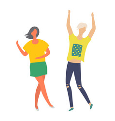 man and woman dancers at disco club happy people vector image