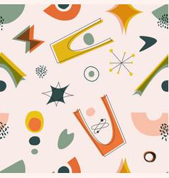 Mid-century modern wallpaper seamless pattern vector