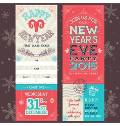 New Years Eve party invitation ticket vector image