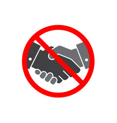 No handshake icon on white background vector