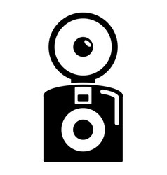 Oldschool camera icon simple style vector