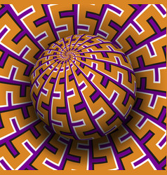 Patterned sphere soaring above same surface vector