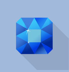 perfect sapphire icon flat style vector image