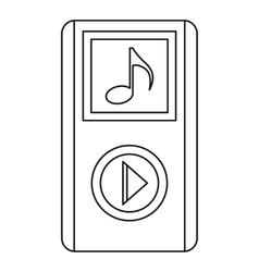Portable media player icon outline style vector