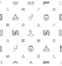 Pressure icons pattern seamless white background vector