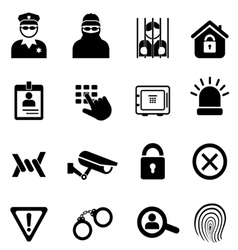 Security Safety and Crime Icons vector